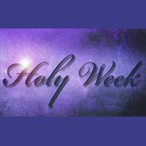 Holy Week Schedule