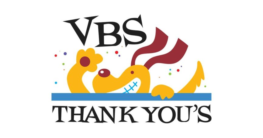 VBS thank yous