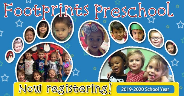 Footprints Preschool Registration 2019-2020
